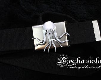 CTHULHU Idol BELT Decor tentacle buckle Lovecraft steampunk octopus Kraken pirate monster LARP men sea gift nautical idea handmade abyss