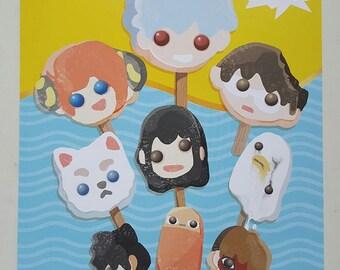 Gintama Yorozuya Ugly Popsicle Print