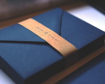 Navy A7 Envelopes 50/Pk