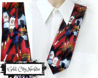 Sport necktie - Basketball tie - Coach tie - men's basketball accessories , basketball clothing , sports game tie , sport theme tie # T 34