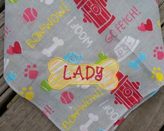 Lady puppy bandana design