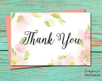 Thank You PRINTABLE CARD, Thank You Card, Printable Wedding Stationery, Thank You Digital Download, Thank You Card, Thank You E-Card 21