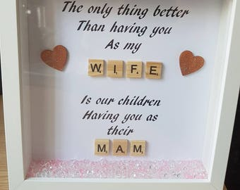 Wife/ mammy box frame
