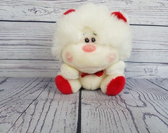 Vintage 1986 Cute Coco Valentine's Day Plush Plushie Stuffed Animal 24k Polar Puffs by Special Effects DCN industry Made in Korea