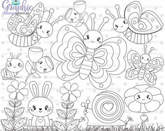 75%OFF - Butterfly Stamp, COMMERCIAL USE, Digi Stamp, Digital Image, Party Digistamp, Butterfly Coloring Page, Butterfly Graphic, Spring