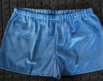 Winter Sale- Shiny Blue Star and Moon Celestial Sleepwear Pajama Shorts