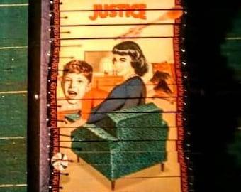 Retro Tarot Justice Pin Sculpture