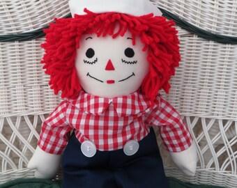 Handmade Doll Raggedy Andy Cloth Doll 25 inch Doll Personalized Custom Birthday Gift Baby Boy Gift