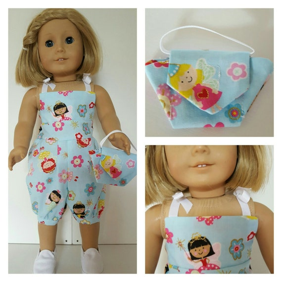 18 Inch American Handmade Fairy Rompers with Purse 18 Inch Doll