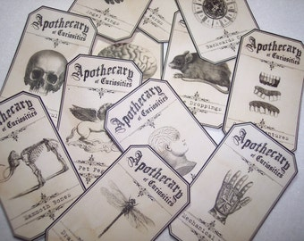The Apothecary of Curiosities Labels Set of 12