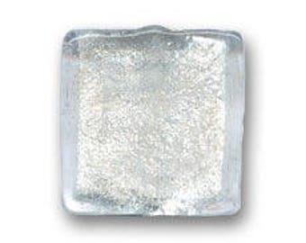 1 x Pearl 20 mm square silver Crystal leaf