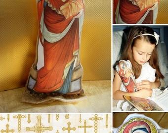 Soft Religous Doll Virgin Mary Madonna with Child Theotokos
