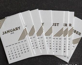 2018 Letterpress Desk Calendar Refill Pack