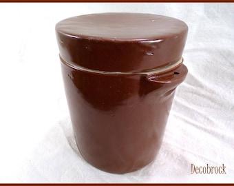 Pot covered in glazed stoneware vintage art confit pot popular vintagefr France vintage retro deco