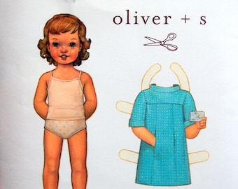 School Photo Dress Pattern Sizes 6 - 12 M, 12 - 18 M, 18 - 24 M, 2T, 3T And 4 Oliver + S Uncut Sewing Pattern 2010