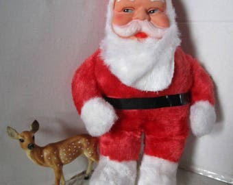 VINTAGE Love Worn Santa Doll, Child's Toy Friend, Grouchy Santa Ho Ho Ho, Merry Christmas Retro