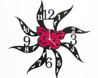Fashion Art wall clock, Modern wall clock, Wall clock for home decoration, Butterfly wall clock