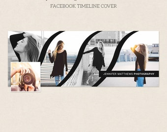 Facebook Timeline Cover - Facebook Timeline Template - PSD Template - Customize Facebook Page - Instant Download - F231