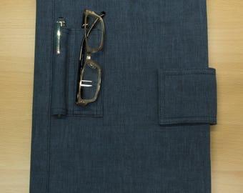 Simple writing pad cover-dark blue