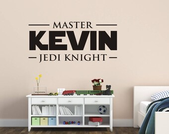 Star Wars Wall Decal, Star Wars Name Wall Decals, Kids Name Wall Decals, Star Wars room decor, Star Wars Decals, Jedi Knight Wall Decals