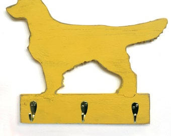 Retriever Leash Hook Golden Retriever Dog Leash Collar Hook Organizer Wood Holder