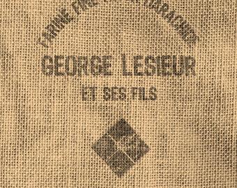 Vintage Look French Grain Sack Image Transfer - Digital Download 8 1/2 x 11 in