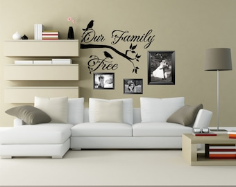 Family Tree Decal Our Family Tree Photo Wall Picture Wall Family Photo Decal Family Wall Decal Family Photo Decor - WD0126 : our family wall decal - www.pureclipart.com