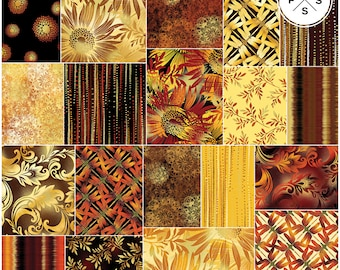 "Benartex Sun Valley Pinwheel 2.5"" Precut Fabric Quilting Cotton Strips Jelly Roll"