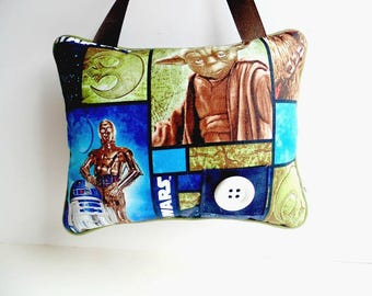 Personalized Star Wars Tooth Fairy Pillow , Star Wars Room Decor ,Hanging Pillow, Boys Blue and Green Pillow