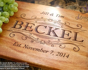 Personalized Engraved Cutting Board- Wedding Gift, Anniversary Gift, Housewarming Gift, Birthday Gift, Corporate Gift, Award, Promotion. 002