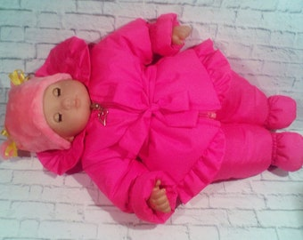 """15"""" Bitty Baby Dolls clothes -hat, jacket and pants outfit  3 piece set/READY To Ship /Lovely Doll Clothes"""