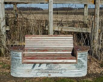 Farm Strong Design Repurposed Water Tank Bench