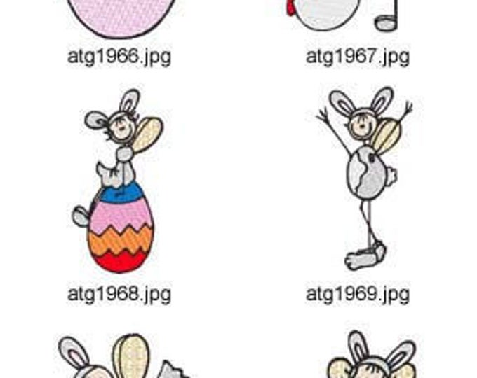 Easter-Stick-Fairies ( 10 Machine Embroidery Designs from ATW ) XYZ17C
