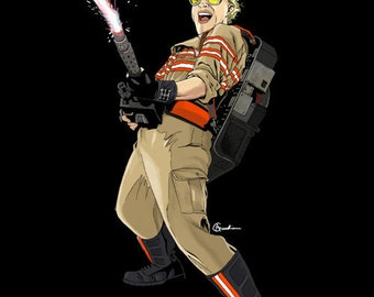 Jillian Holtzmann: Ghostbusters 2016 Digital Painting Art Print