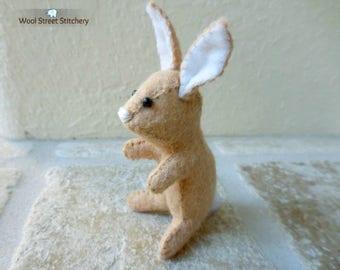 Stuffed bunny rabbit, felt bunny, felt animal gift, handmade Easter bunny, Easter basket animal, soft toy, felt stuffed animal