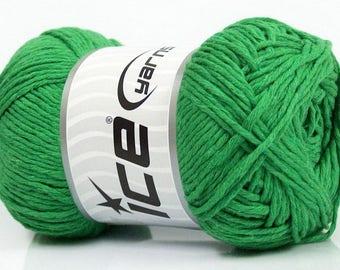 Ice Yarns - Natural Cotton - Green - 100% Cotton - 100grams