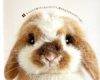 Realistic FELT Wool Cute Rabbits - Japanese Craft Book