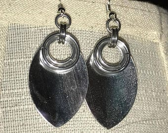 Mirror Scale Double Ringed Chainmaille Earrings