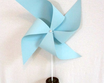 Blue Birthday Decoration Baby Shower Decor Extra Large Pinwheel Boy Birthday Party Decoration Wedding Bouquet Table Centerpiece