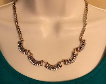Aztec necklace, Egyptian necklace, copper chain necklace