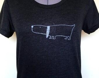 Dog T Shirt - Womens Black T Shirt, Dog Shirt, Great Gift for Dog Lover, Womens Dog T shirt Sizes S to XL