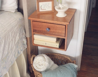 Floating Nightstand   Bedside Table   Dovetail Joinery