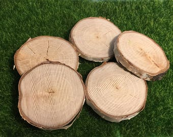 Wood stepping stones etsy 5 slices 175 2 diameter white birch wood slices stepping stones workwithnaturefo