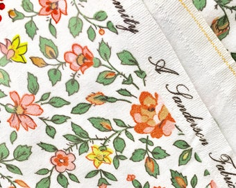 Vintage Sanderson Fabric / Dimity Cotton /  Dates from 1960s 1970s /  Floral / England / 1.2 M wide / Price Per Metre / Fabric by the Metre