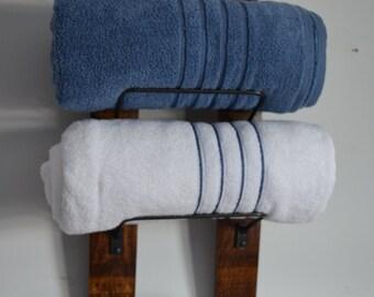 Wine Stave Towel Rack