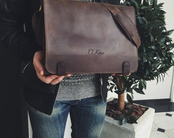 Brown Leather Shoulder Bag, Leather Shoulder Bag, Leather Messenger Bag, Personalized Leather Bag, Brown Leather Bag, Messenger Bag, Bag