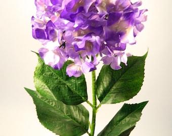 """Silk Hydrangea in Purple - 35"""" Tall"""
