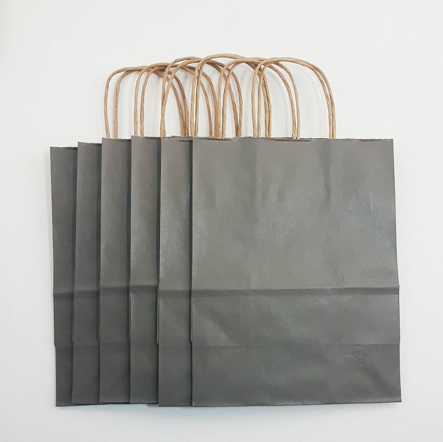 50 grey gift bags shopping bags paper bags wedding gift favor
