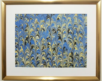 Ebru Marbling Art Painting (Includes Frame)