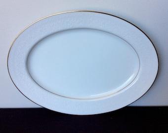 "Noritake Guenevere 13"" Oval Serving Platter"